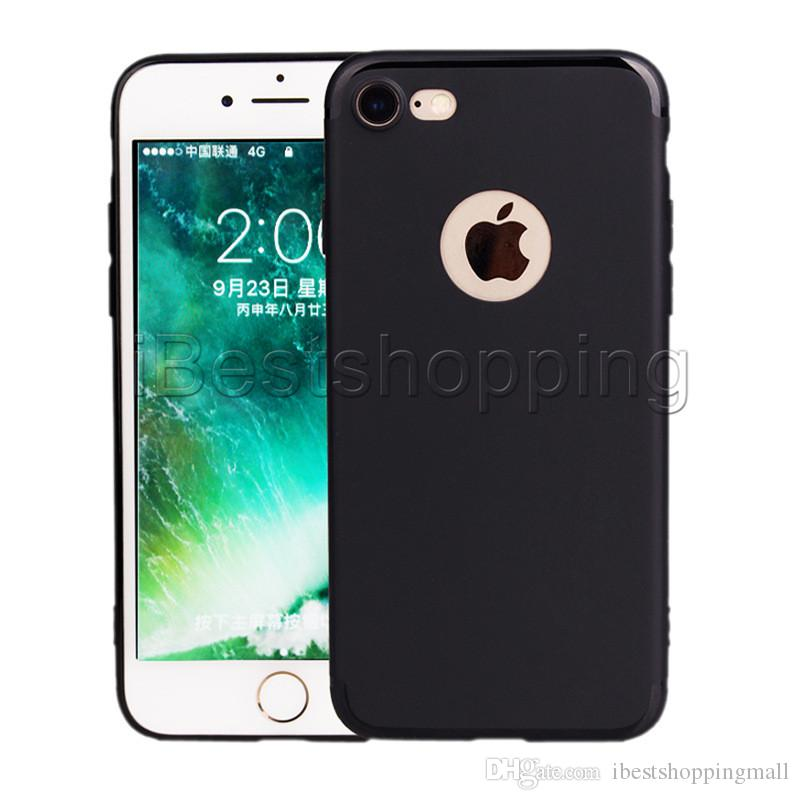 Soft Slim Case TPU Silicone Cover Matte Phone Cases Shell with Dust Cap For iPhone 11 Pro Max X Xr Xs Max 8 7 6 6S Plus