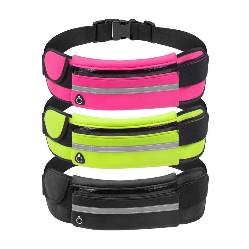 New Portable Convenient USB Waist Packs Men Women Bum Bag Travel Pouch Belt Hot Sale