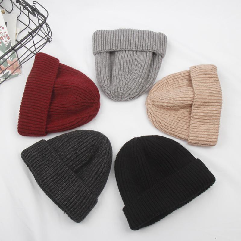 Uomo Donna Moda Knitting Baggy Beanie caldo 2020 del cappello del pattino di inverno Slouchy Cappello Pescatore Docker Hip Hop Cap