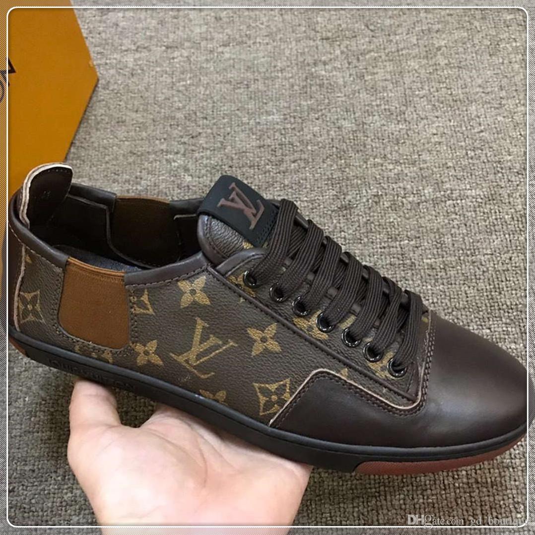 Moda Marka Erkek Ayakkabı Deri Casual Zapatos de hombre Dantel-up Trianers Moda Erkekler Ayakkabı Boyut 38-45