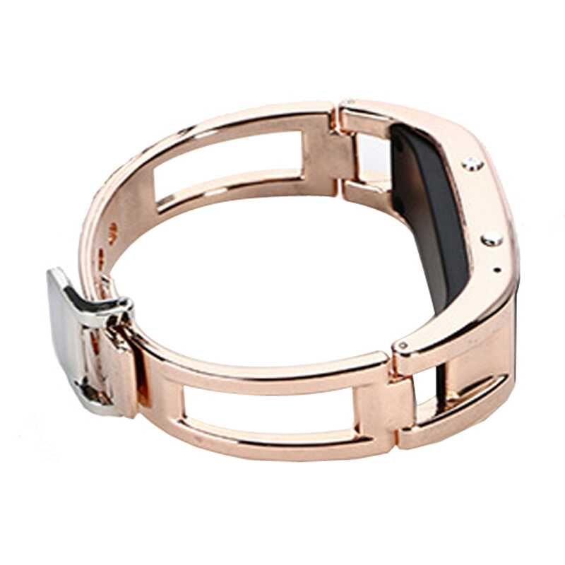 Smart-Armbanduhr D8 Bluetooth Fitness Tracker Smart Watch Kamera Erinnerung Edelstahl Wearable Smart-Armband für Android iPhone
