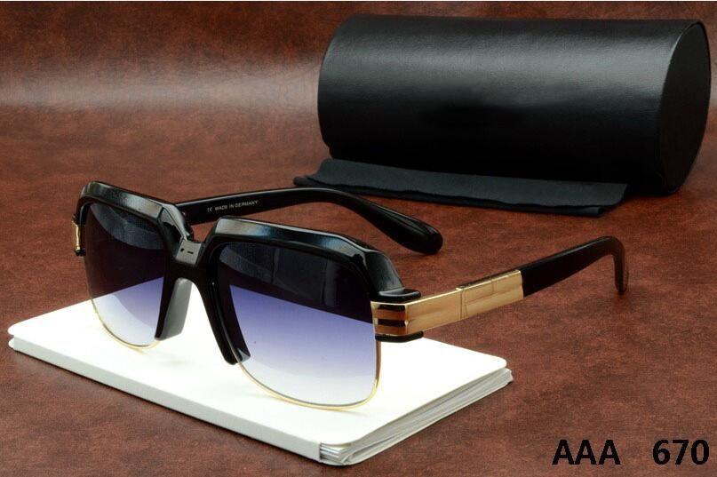 NEW 670 Высокое качество бренда дизайнер мода мужская мода очки женские модели в стиле ретро UV380 Солнцезащитные очки унисекс оригинальная коробка A002