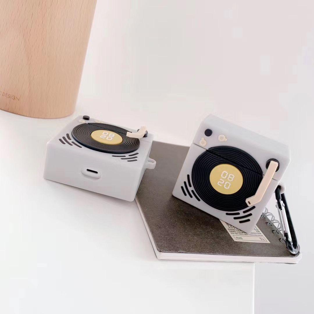 Strap copertura sveglia del silicone di disegno di apparenza auricolare di caso per Airpods 3 2 1 cassa dell'altoparlante AirPod con l'anello di barretta