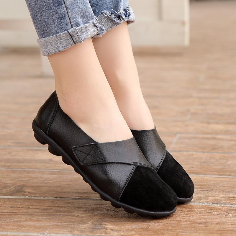 sapatos femininos casuais das mulheres selvagens escolhe sapatos baixos-top confortáveis Peas meia-idade e velhos sapatos de grande porte 41 42 43 44