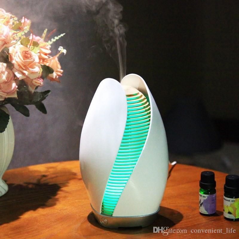 Flower Bud Umidificador Night Light Alterando Aroma Difusor Área de Trabalho DC24V Essencial difusor de óleos umidificador de ar ultra
