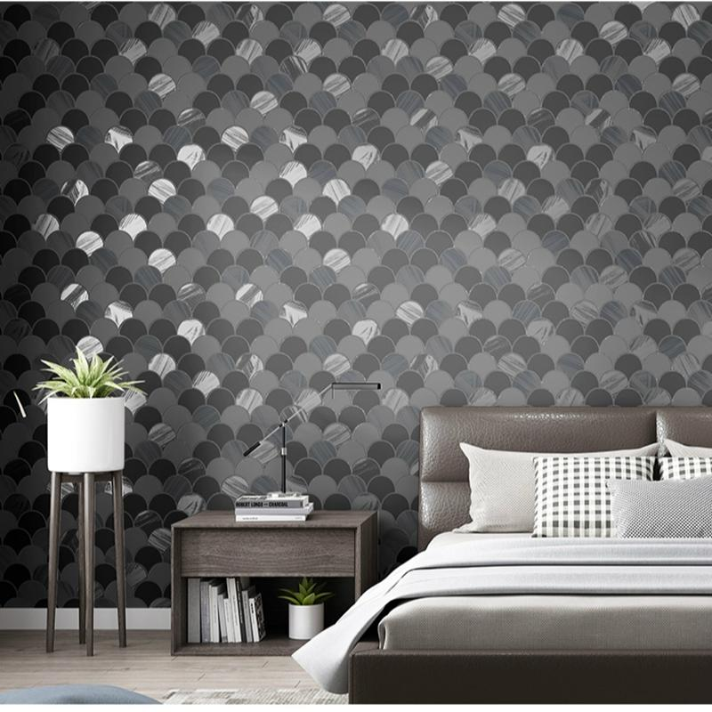 Modern Fashion Design Circle Pattern Wall Paper Blue Gray Beige Wallpaper Bedroom Living Room Furniture Decoration Colour Wallpapers Computer Desktop Wallpaper From Xiuping2 44 43 Dhgate Com