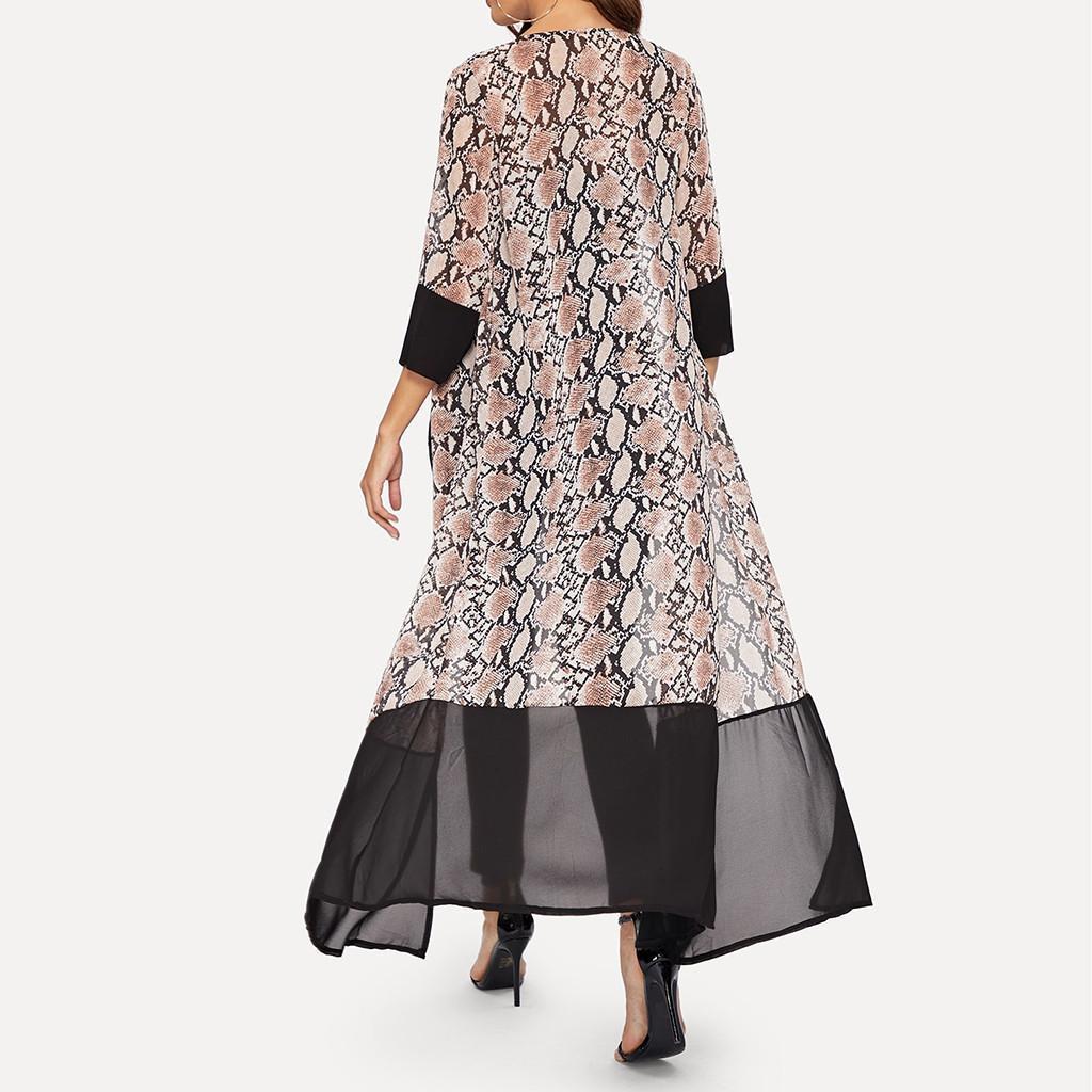 Frauen Boho Chiffon- langer Kimono Cardigan Blumen Schal Tops Sommer-Frauen-Strand-Hemd Lässige Vintage-Bluse 2019