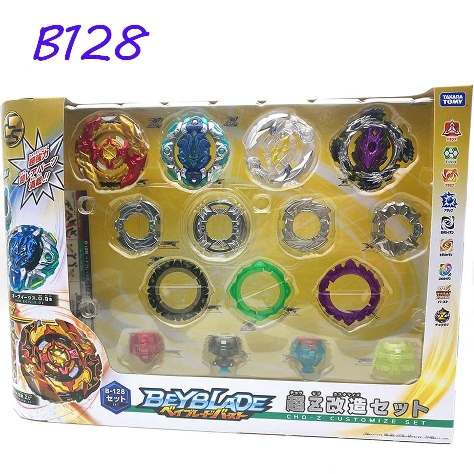 Takara Tomy Beyblade Burst B-128 Super Z 4pcs/set Cho-z Customize Set Bayblade Be Blade Top Spinner Classic ToyMX190923