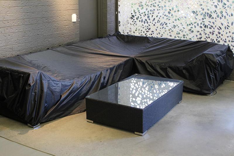 Ткань Оксфорд Водонепроницаемые L Форма Угловой диван Обложка Dust Proof Обложка Установить Protector Ткань Мебель для сада Стул Обложка