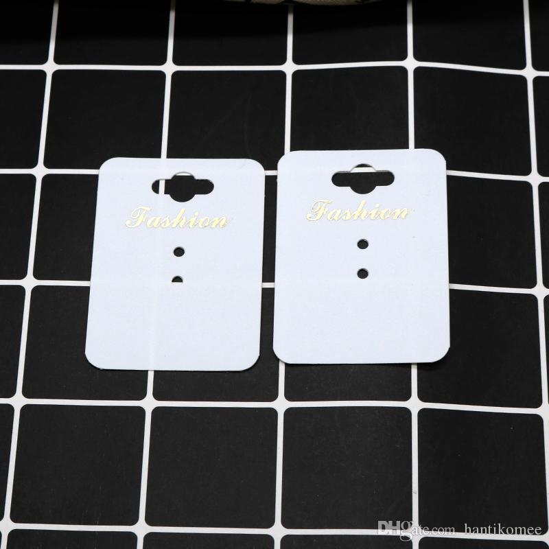 New White Paper/ Plastic HandMade Jewerly Tag Necklace Card Ring Card Fashion Display Jewelry Packing Card 1000pcs