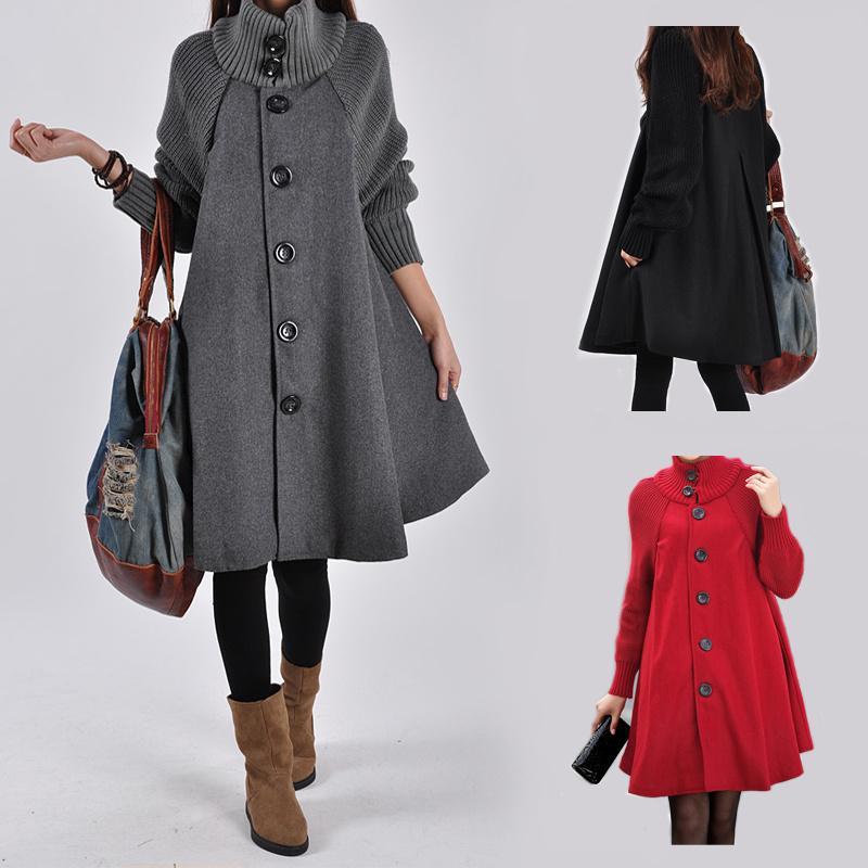 المرأة معطف ملابس الأمومة الخريف الشتاء بالاضافة الى حجم الحمل المرأة الستر طويل فضفاض الحياكة ملابس نسائية عباءة Casaco