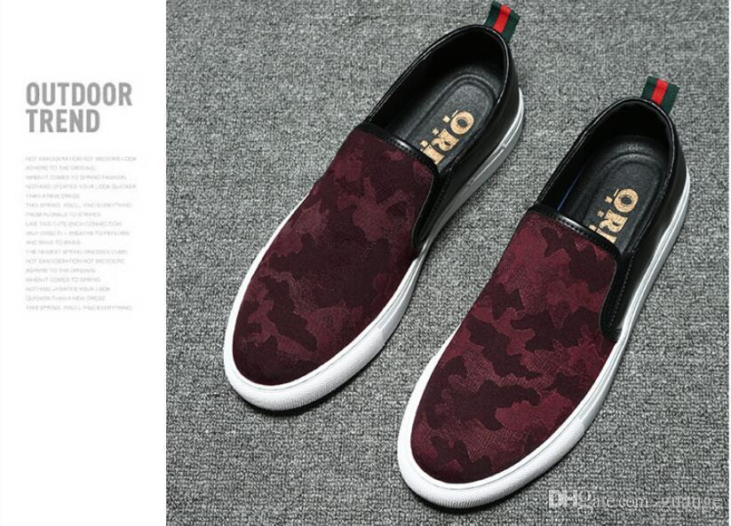 Nuevo estilo de cuero de gamuza de los hombres zapatos Oxfords de conducción ocasionales de los hombres mocasines mocasines italianos zapatos de los hombres pisos negro rojo tamaño 38-44