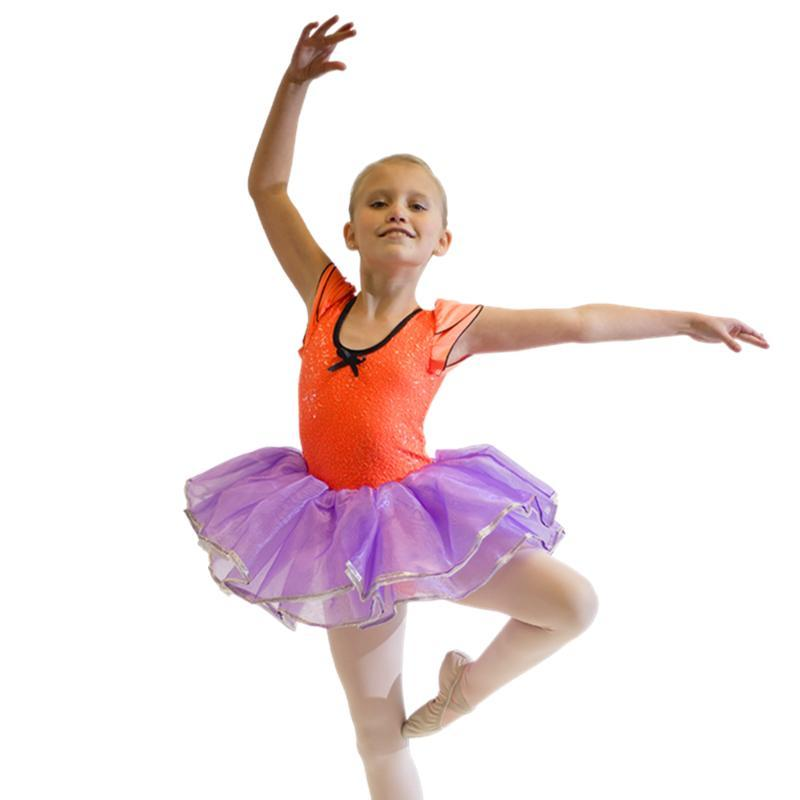 Girls Sequin Leotard Dance Tutu Dress Performance Costume for Kids Shiny Show Costumes Dancing 8 Colors