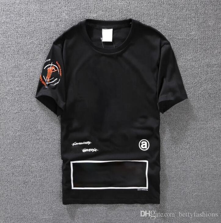 Camiseta casual Ropa de hombre Camiseta de diseñador de verano Negro Blanco Naranja Tamaño S-XXL Mezcla de algodón Cuello redondo Manga corta Estampado de dibujos animados