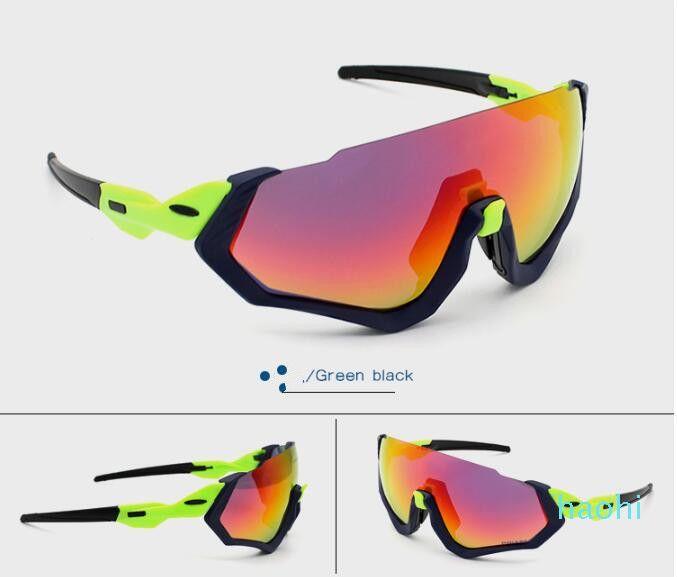Стильная поляризованный куртка полета очки на открытом воздухе спортивный велосипед очки 3 линзы на открытом воздухе очки велосипед