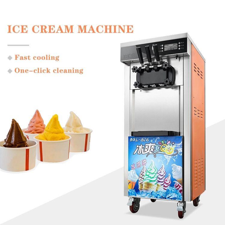 Commerciale Tipo verticale automatica gelato soft che fa la macchina intelligente dolcificante il gelato che fa la macchina 16-18L / ora