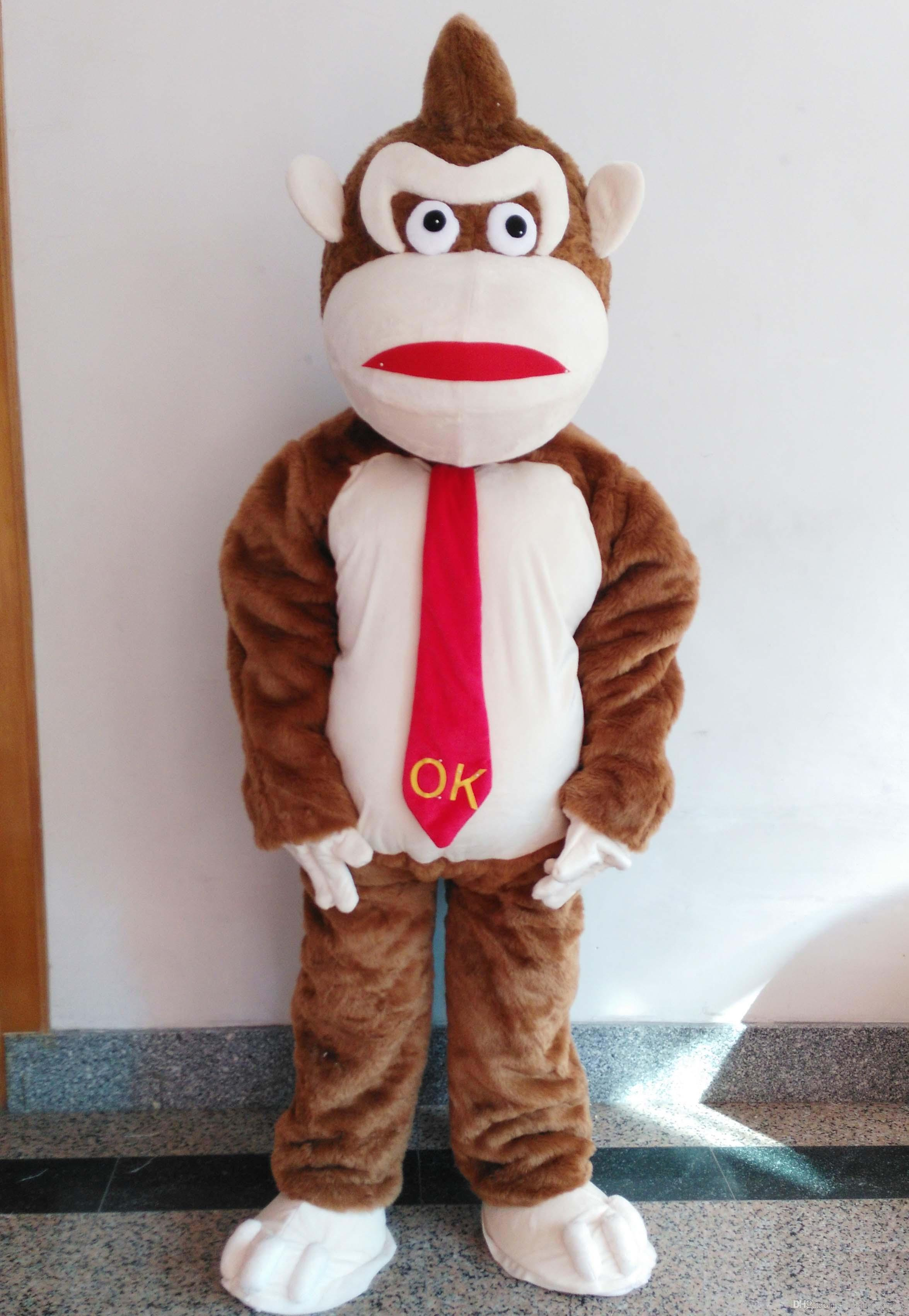 2019 Discount factory sale Good vision good Ventilation orangutans gorilla apes mascot costume for adult to wear