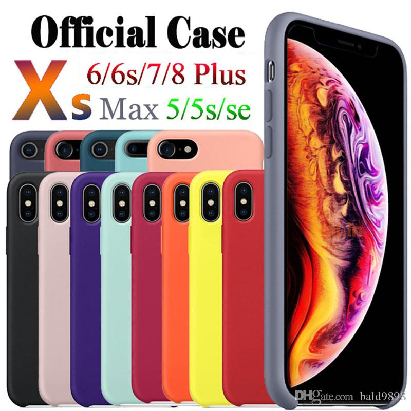Liquid Silicone Case for iPhone X Xs Xs Max Xr X 7 8 Plus 6 X Phone Cases For Apple Phone Cover Coque