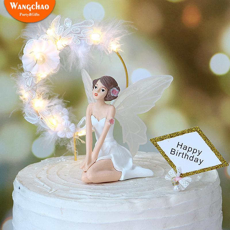 Amazing 2020 Charming Angel Happy Birthday Cake Topper Attractive Angels Personalised Birthday Cards Epsylily Jamesorg