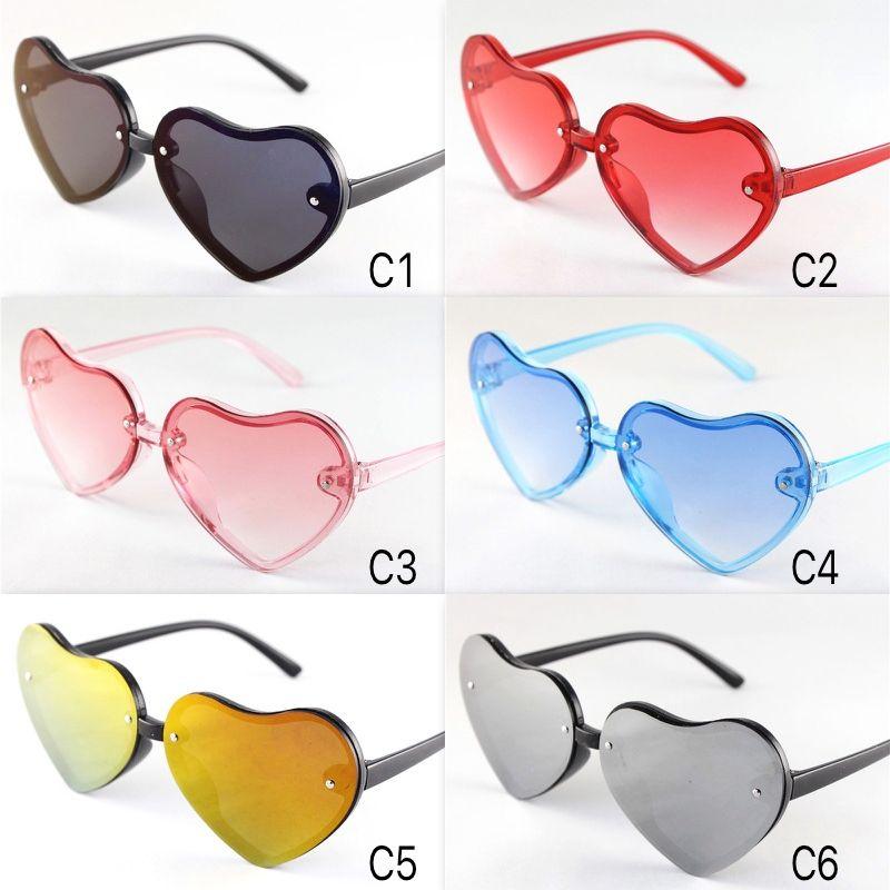 Kinder Sonnenbrillen Nette Bunte Herzen Rahmen Brillen Kinder Größe Schöne Baby Sonnenbrille UV400 Großhandel