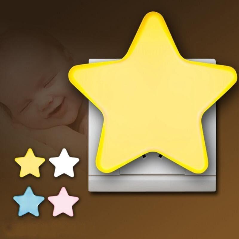 Сенсор T20 Mini Star Moon LED Night Light для темной ночи Детская спальня Прикроватная лампа ЕС / США Plug Baby Sleeping Light