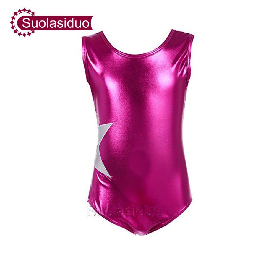 Çocuk Dans Giyim Kolsuz Bale Parça Kostümleri Kız Dans Uygulama Giysileri Jimnastik Yüzme Su Dans Mayoları