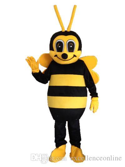 Bienen-Maskottchenkostüm der erwachsenen Größe kleines Bienen-Maskottchenkostüm Freies Verschiffen