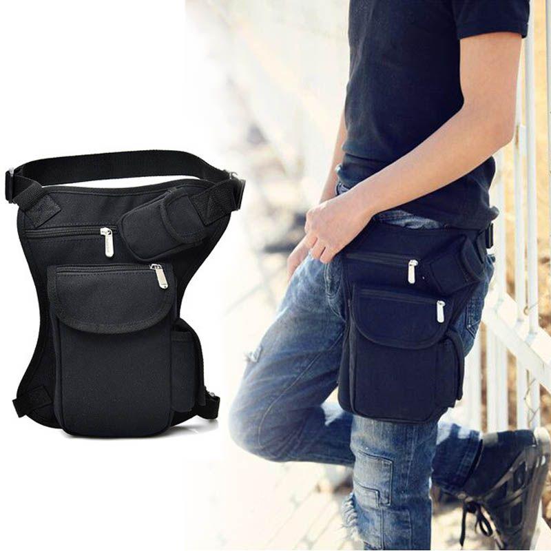 Outdoor Sports Leg Bag Retro riding canvas Motorbike Motorcycle Waist Bags Gift