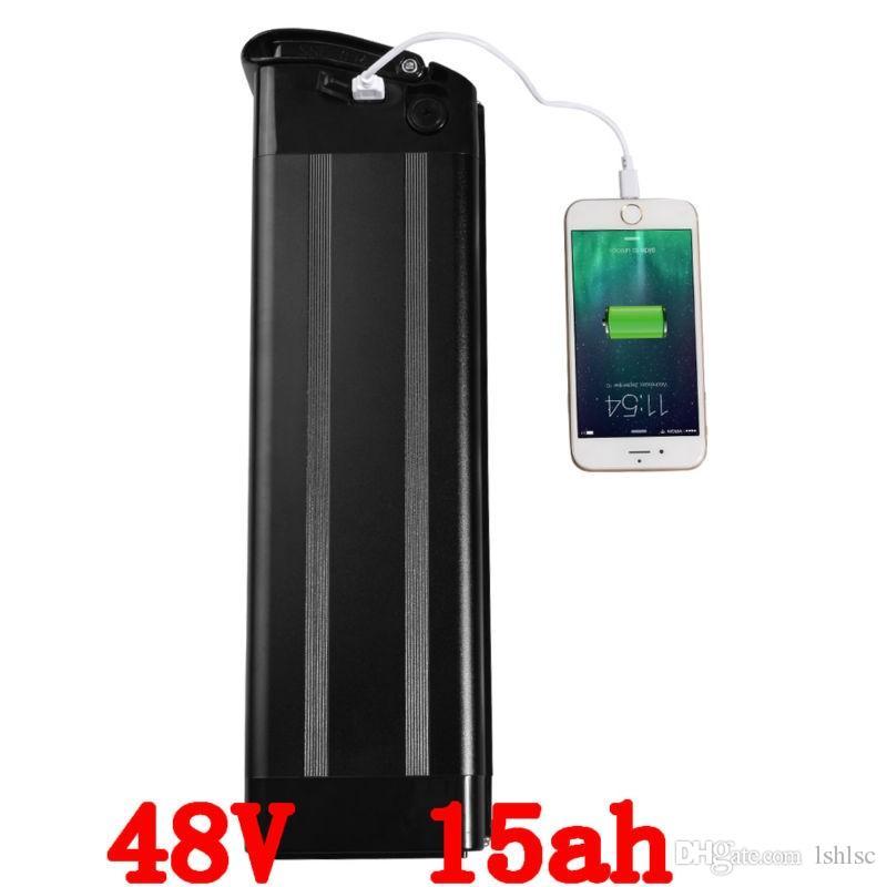 48В 15ah с серебром используют рыбу для Samsung мобильный электрический литиевая батарея с USB порт, пригодный бафане 1000 Вт bbs02 48 в 750 Вт двигатель