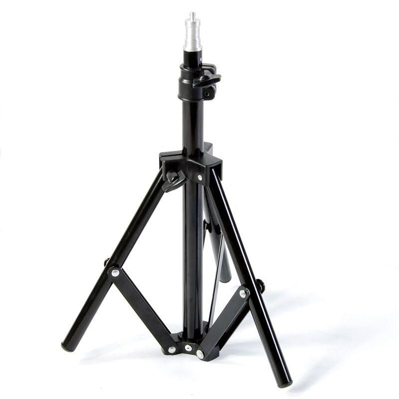 Equipo de fotografía soporte de lámpara pequeña soporte de lámpara de tierra trípode 45-75cm soporte para flash transfronterizo digital