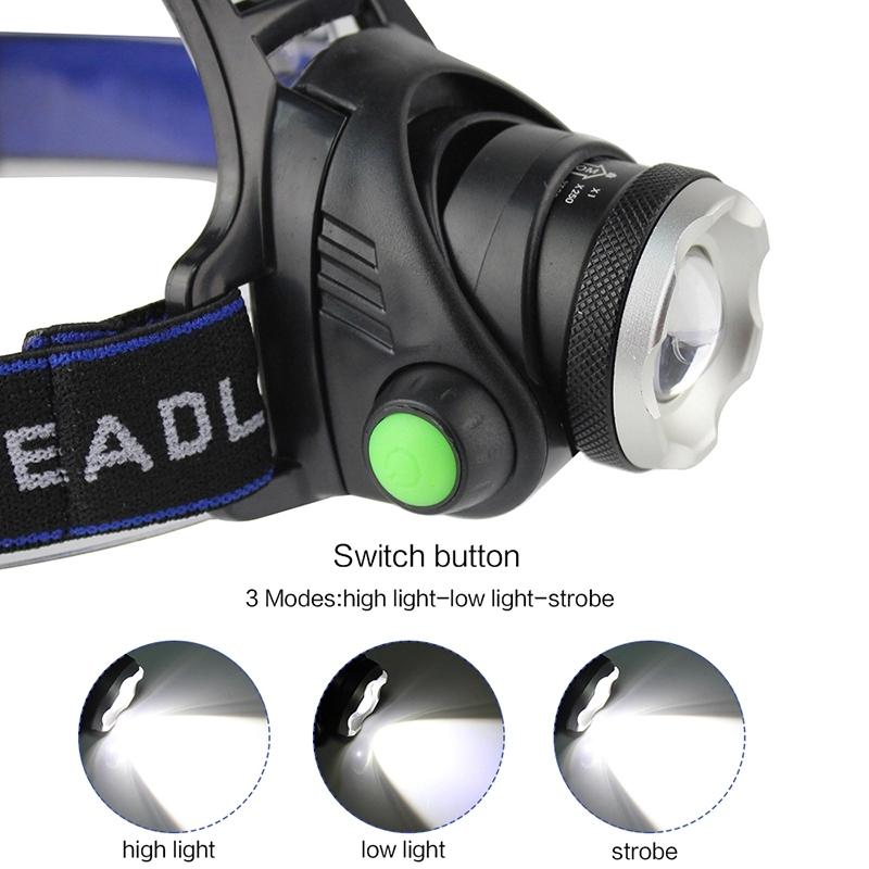 10000LUMS IR Sensor Headlamp T6 Headlight Induction USB Rechargeable Lantern LED Head Lamp Flashlight Torch By 18650