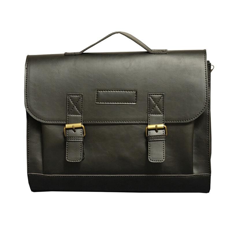 Top Grade Male Men's Vintage PU Leather Briefcase Messenger Shoulder Portfolio Laptop Bag Case Office Handbag