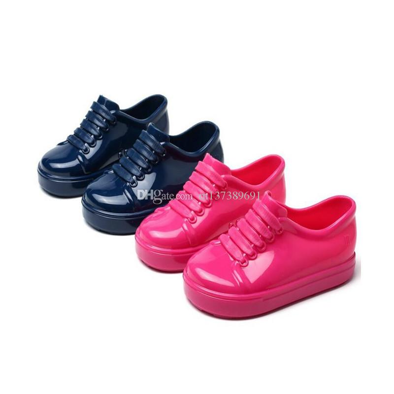 2019 아기 여름 신발 어린이 유아 아기 여자 아이 공주 샌들 신발 비 - 슬립 플라스틱 활 버클 젤리 신발
