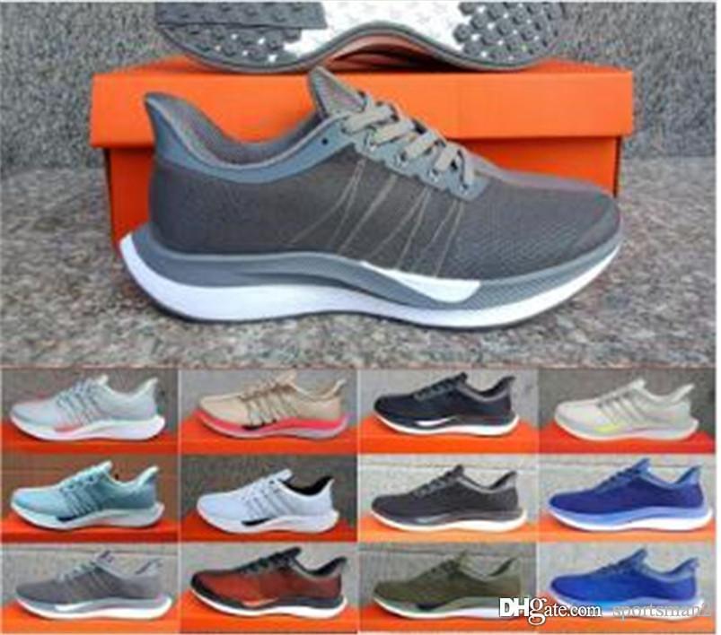 Compre Nike Air Max Nueva Zoom Pegasus Turbo Apenas Zapatos Gris Negro  Caliente Ponche Blancos Baratos Chaussures Hombres Mujeres Reaccionar ZX  Zoom X ...