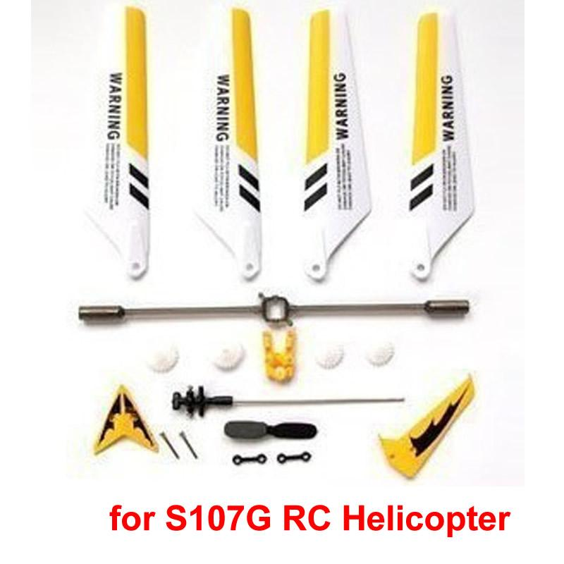Full Set Replacement Spare Parts for Syma S107 RC Helicopter High Qualilty Safety Drone Toy Accessories Gift Dorp