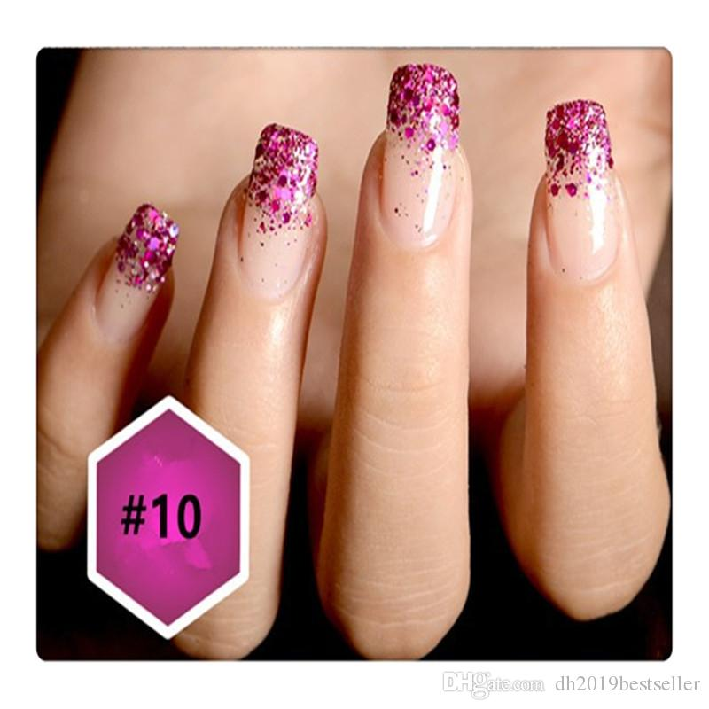Fine Glitter Powder Safe for Skin DIY Nail Art Glitter Powder 12 Boxes / set Nail Art shimmy Glitter Makeup tool