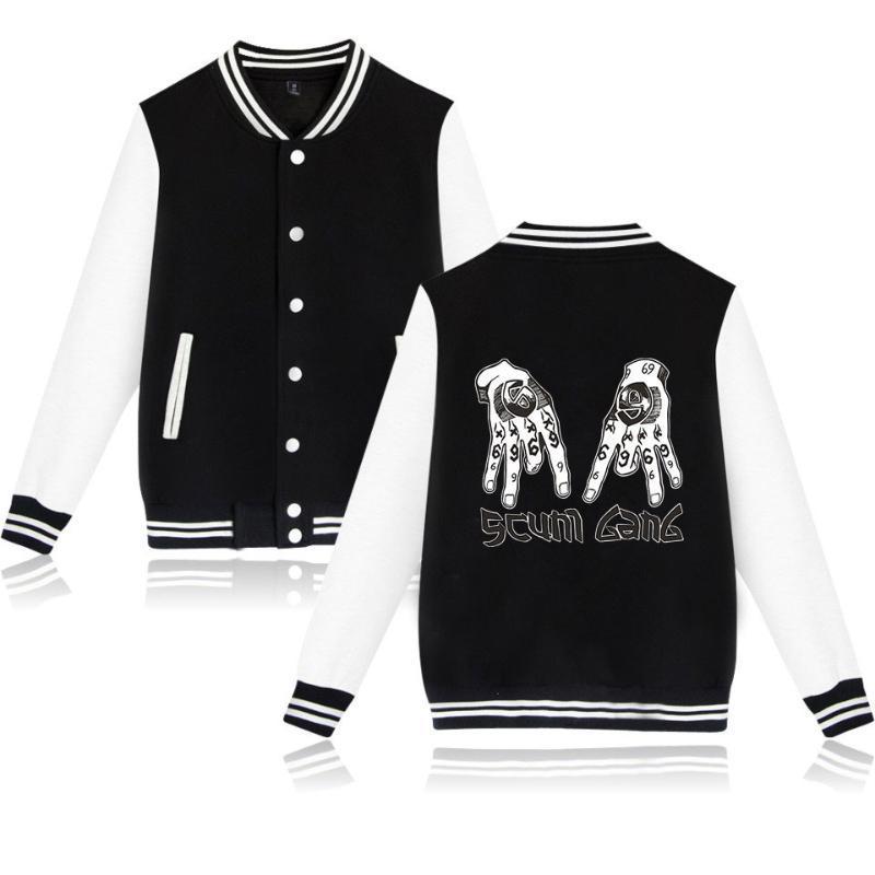Tekashi69 6ix9ine Zip Up Baseball Uniform Men's Jackets Streetwear Hip Hop Harajuku Sweatshirt RAP TEKASHI 69 Scum Gang Hoodie