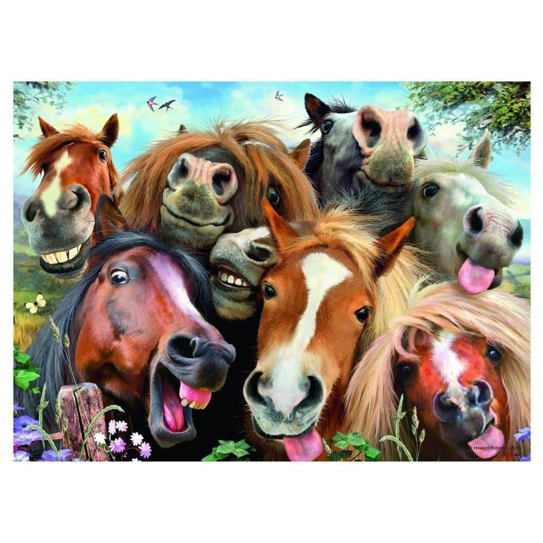 2020 Anti Stress Paint By Numbers Kit Funny Horses Unframd Canvas Digital Painting With Acrylic Paints Brushes Set For Adults Beginners Kids From Diypaintings 11 33 Dhgate Com