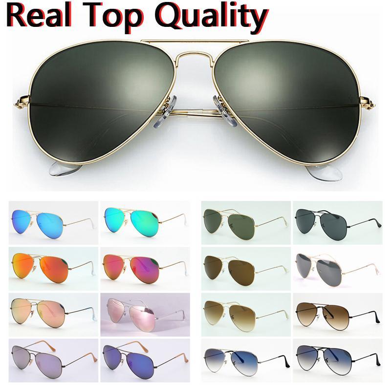 مصمم النظارات الشمسية أعلى جودة الأصلي الطيار الرجال النساء نظارات الشمس des هلالية دي سوليل الحالات الجلدية الأصلية ، مربع ، جيدة لإعادة بيع!