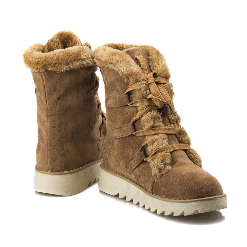 scarpe moda caldo grossi stivali di lana della pelliccia delle donne di grandi dimensioni donne della piattaforma del sistema della neve delle donne caviglia