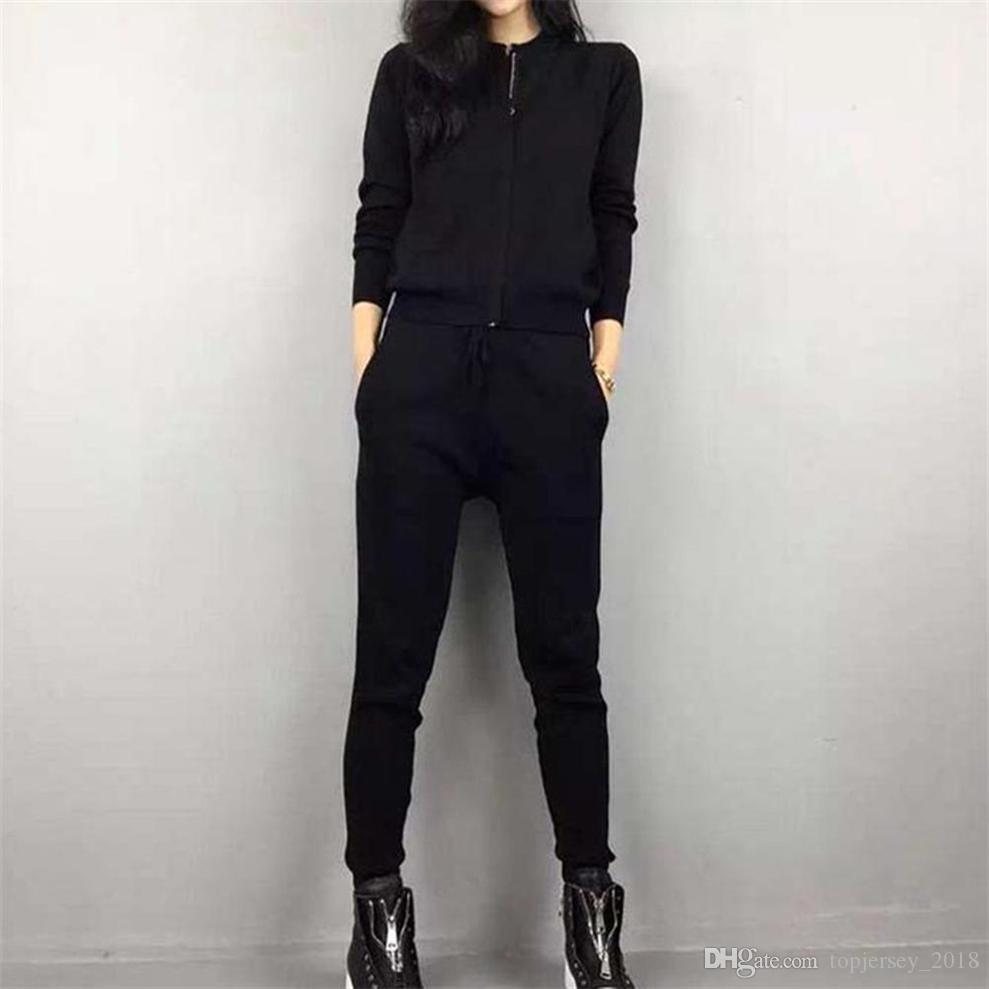 Women Fitness Set Sport Suit New Windproof Breathable Gym Sportswear Black Tracksuit Lady Training Jogging Running Sets #257190