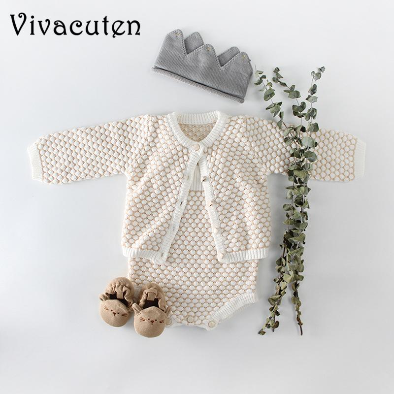 New Autumn Rompers Sweater Cute Newborn Knitting Overalls Baby Girls Infant Girl Princess Romper Clothes Q190520