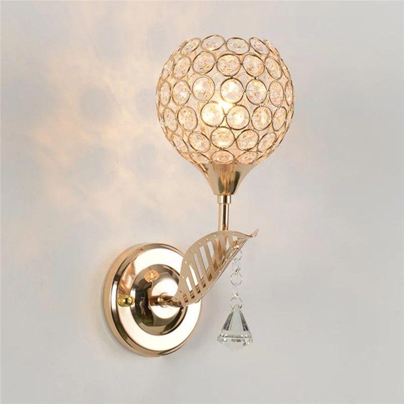 Apextech Wandleuchte Europäische künstlerisches Klassische Luxuxart E27 Sockel Wohnzimmer-Wand-Lampen-Hotel-Schlafzimmer Bedside-Nachtlichter