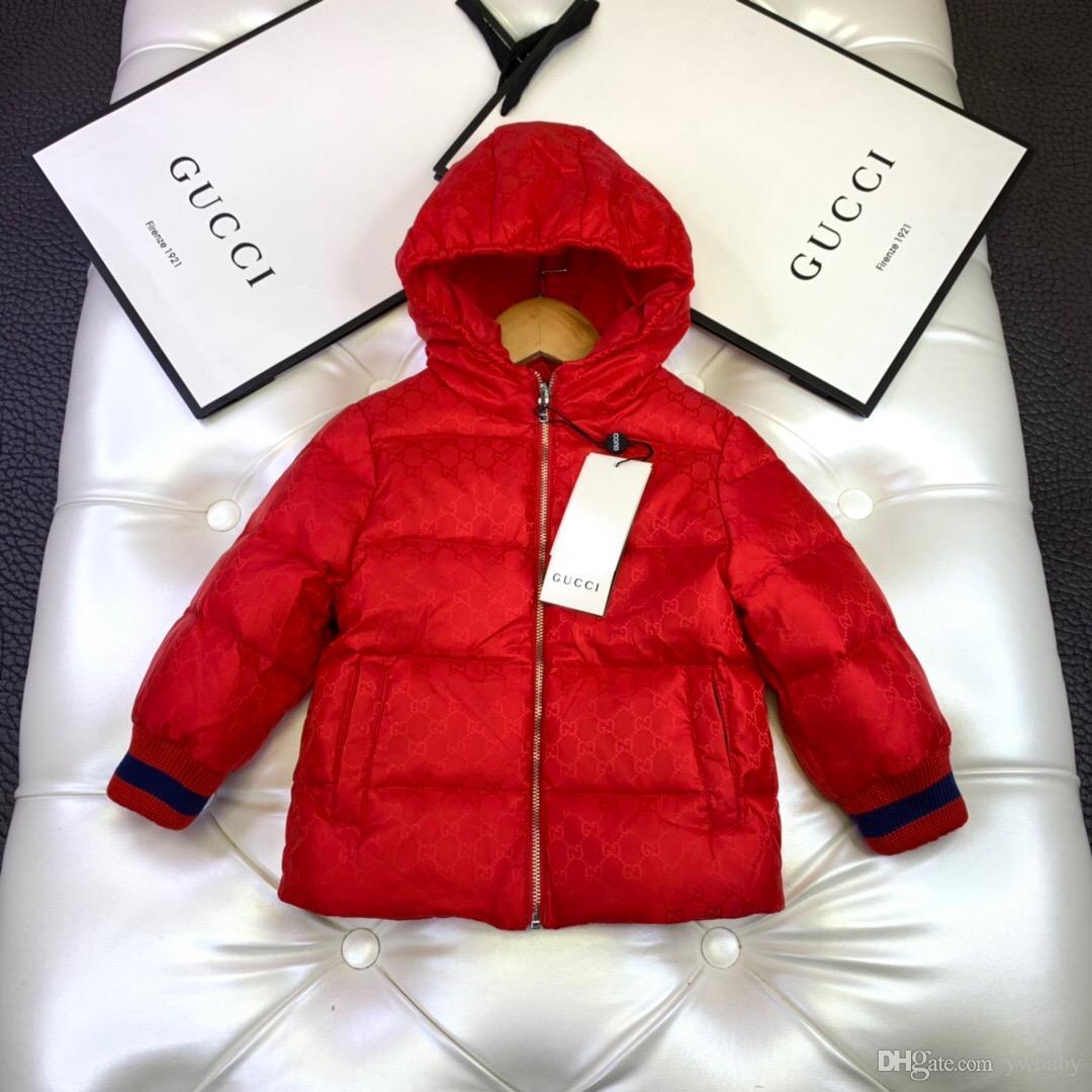 Kış çocuklar kız Moda baskılı Coats kız bebek kukuletalı sıcak dış giyim 2019 çocuk perakende giysi