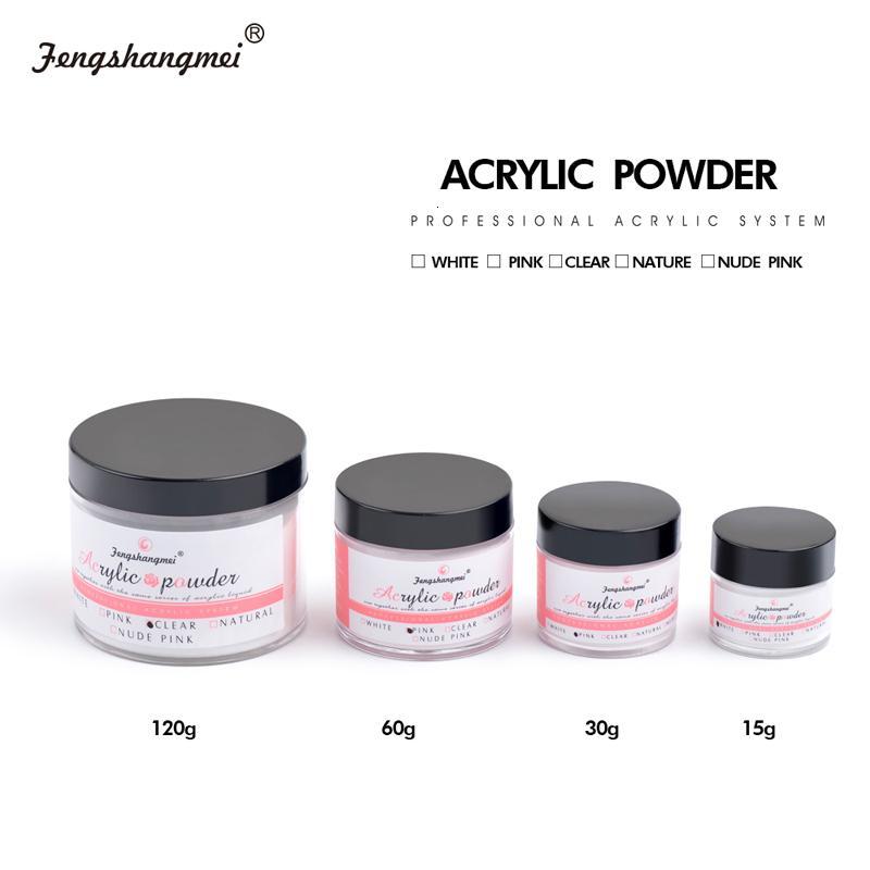 fengshangmei Crystal Clear Nail Sculpture Poudre blanche en poudre liquide Pour Builder Nail Rose Nail Poudre Acrylique