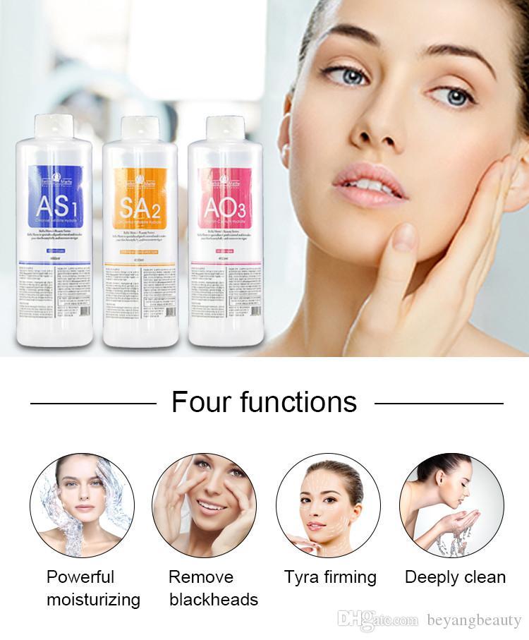 idra aqua soluzioni facciali dermoabrasione pulito S1 S2 S3 Aqua sbucciatura Soluzione 3 Bottiglie Aqua Facial Serum Hydra dermoabrasione Facial Serum Fo