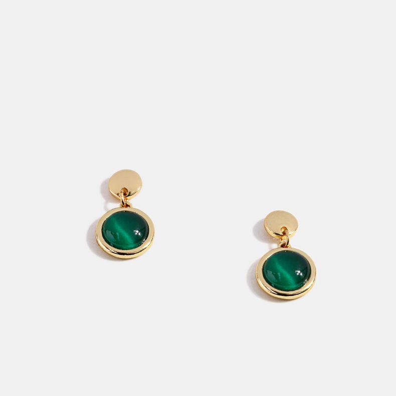 925 silver needle palace Baroque earrings of Qingdao factory
