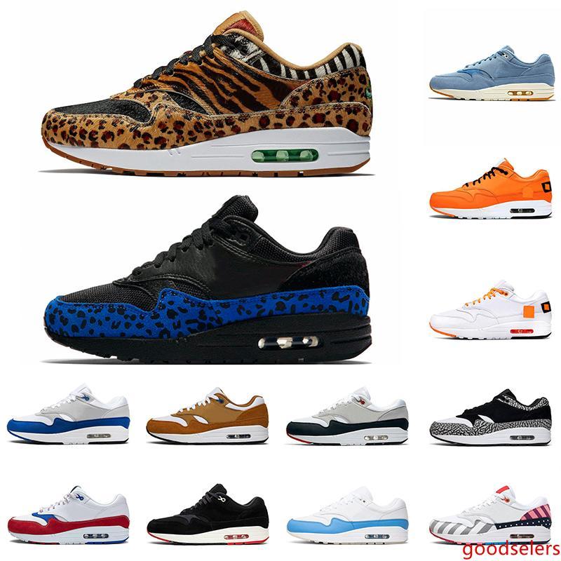 Atmos 1s zapatos corrientes de Formadores Atmos 1s animal de carga 3.0 Tinker Parra Bred Lo que el tamaño de impresión Deportes zapatillas de deporte 36-45