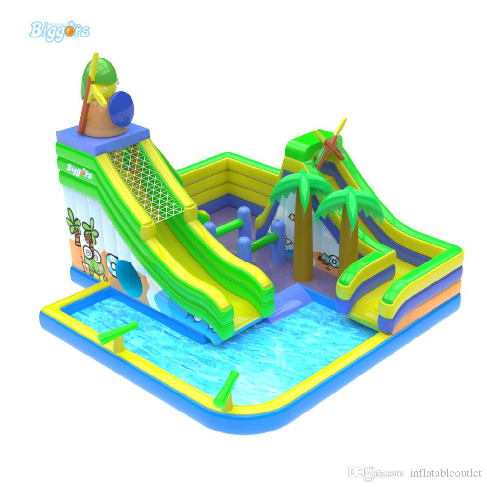Cheap Price Popular Inflatable Slide Pool Slide Water Amusement Park For Kids And Adult