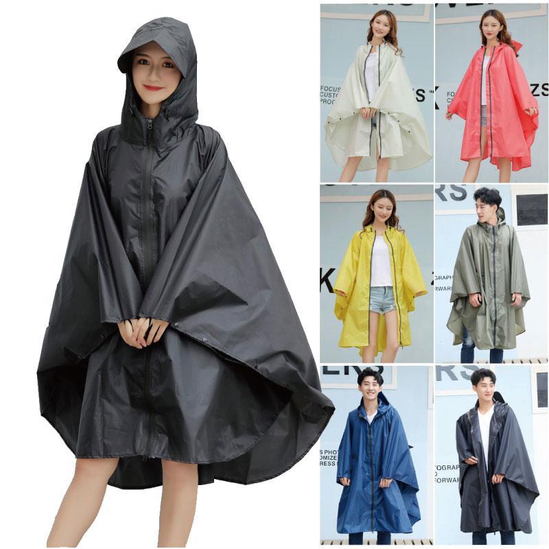 Fashion Big Cap Hooded Women trench Raincoat Outdoor waterproof Long Impermeable Rain Poncho Cloak for Hiking Climbing cycling